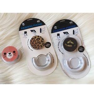 Accessories - 3 for $18!! Unused Popsockets and mount